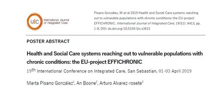 Health and Social Care systems reaching out to vulnerable populations with chronic conditions: the EU-project EFFICHRONIC