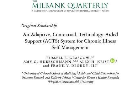 An Adaptive, Contextual, Technology-Aided Support (ACTS) System for Chronic Illness Self-Management.
