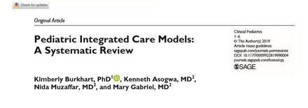 Pediatric Integrated Care Models: A Systematic Review