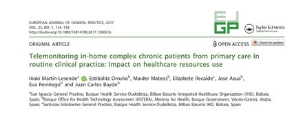 Telemonitoring in-home complex chronic patients from primary care in routine clinical practice: Impact on healthcare resources use