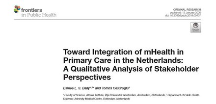 Toward Integration of mHealth in Primary Care in the Netherlands: A Qualitative Analysis of Stakeholder Perspectives